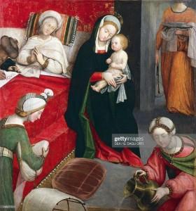 Bourg-en-Bresse-Birth of St John the Baptist, by Defendente Ferrari
