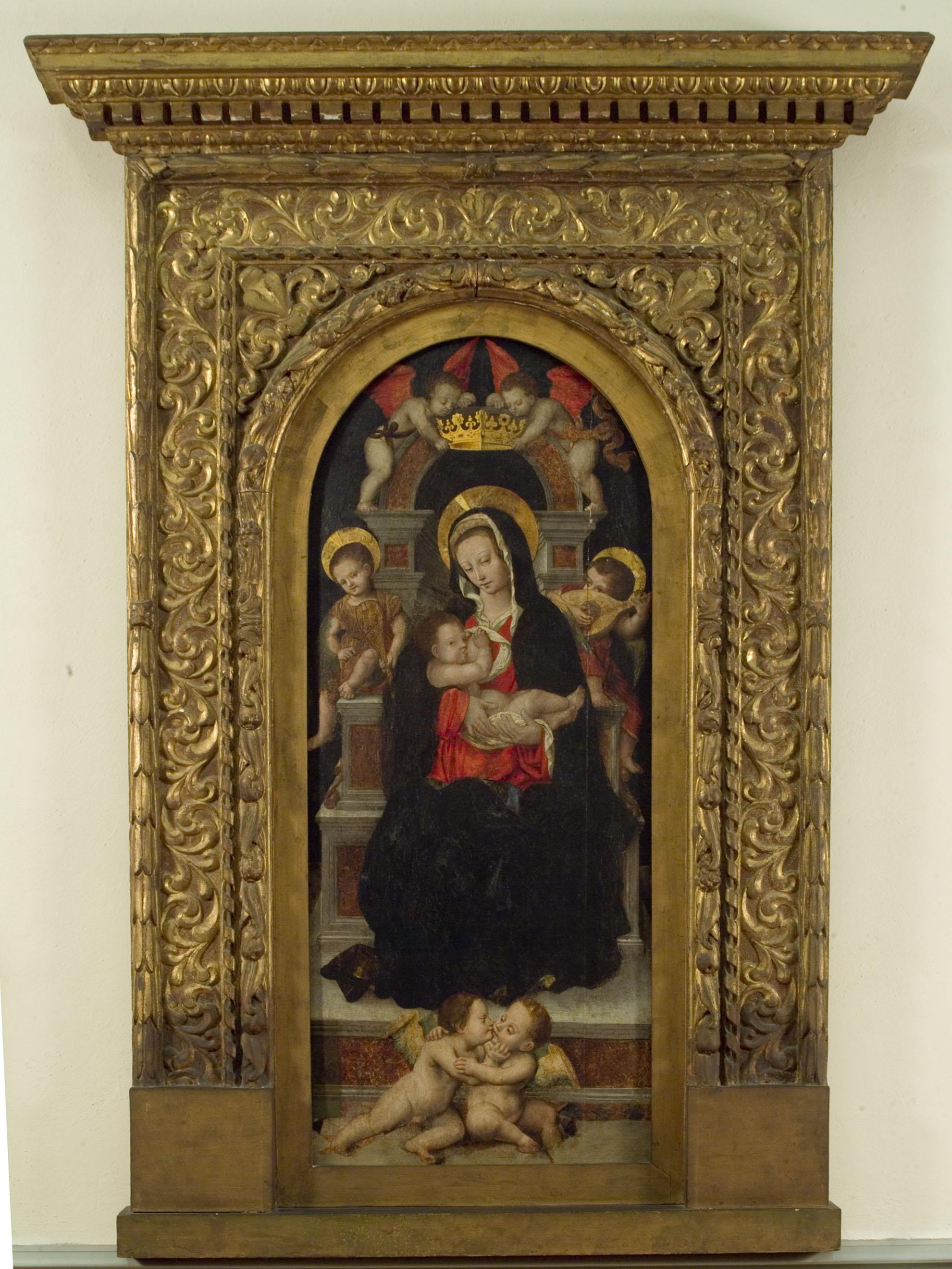 VERCELLI, MUSEO BORGOGNA, Defendente Ferrari, Madonna in trono